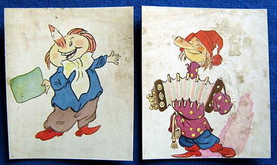儿童读物插图(原画二张)每张14x17c