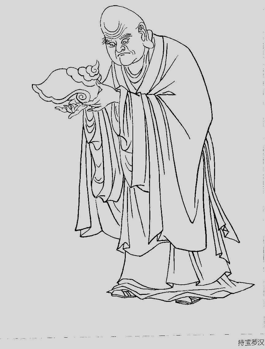 标题: 李国栋画的罗汉图