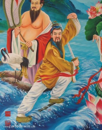 标题: [贴图]贺卡通论坛改版---八仙过海之吕洞宾彩画愿连友大显神通!