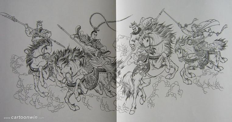 古代将军动漫手绘图